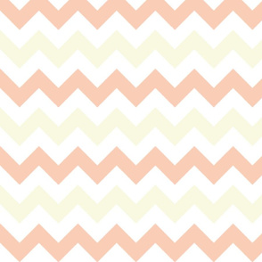 Peach and Yellow Chevron Stripes