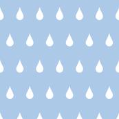 Raindrops white on blue