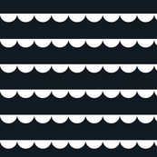 Scalloped bunting white on black