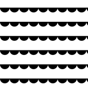 Scalloped bunting black on white