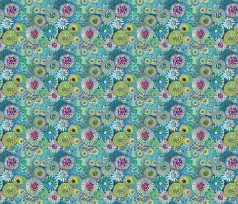 Under the Sea Small Scale fabric by snowflower on Spoonflower - custom fabric