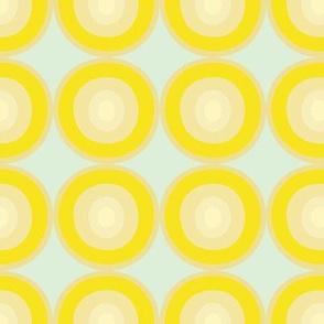 Circles Vibrant Yellow Dots