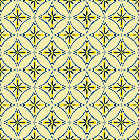 Moroccan Tiles 2 - Blue-Yellow 4