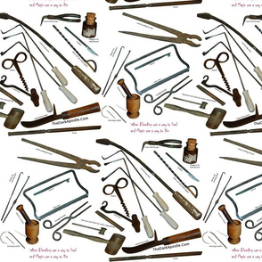 Medieval Medical Tools with Titles
