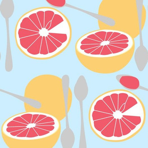 Ode to Grapefruit Spoons Blue