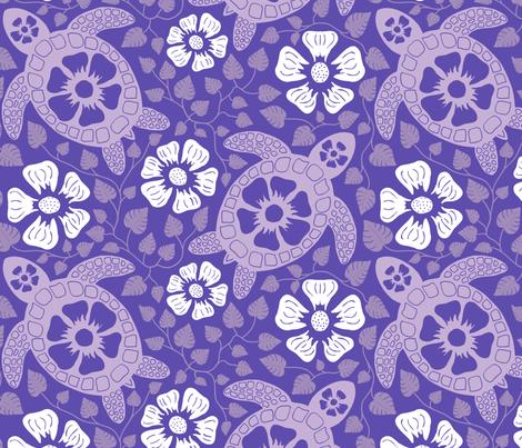 Kauai Turtles in Purple