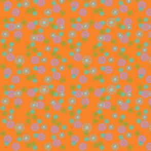 Floral on Orange