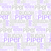 Personalised Name Design - Lavender Grey