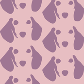 Dachshund Pink Purple Muted