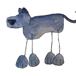 Watercolour Blue Great Dane