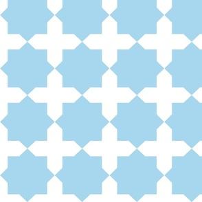 Casablanca star turquoise-white-L