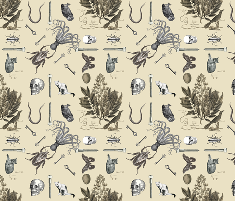 botanical squared fabric by trollop on Spoonflower - custom fabric