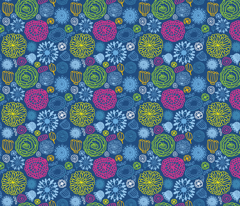 flora smaller scale fabric by kostolom3000 on Spoonflower - custom fabric