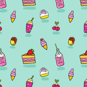 pattern Soda icecream cake