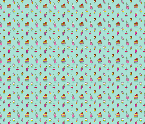 pattern Soda icecream cake fabric by kostolom3000 on Spoonflower - custom fabric
