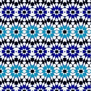 oriental mosaic batik pure blue medium