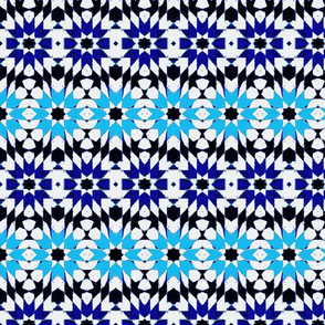 oriental mosaic batik pure summer blue medium