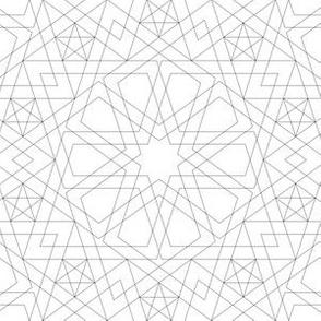 decagon star : outline