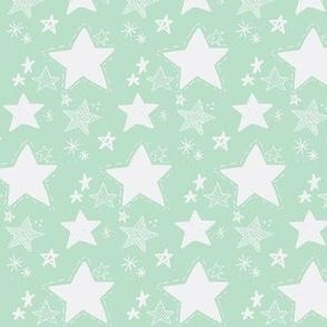Stars doodle Mint