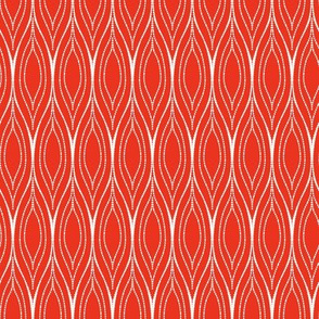 Nautica Ogee Background / Red