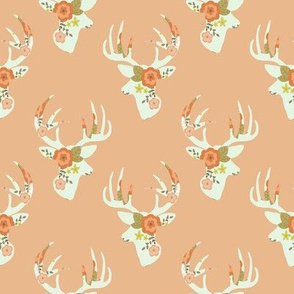 Minty floral deer small