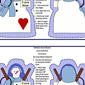 Kathleen Snow Queen Cut and Sew Doll