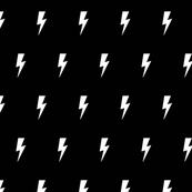 Lightning white on black