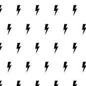 Lightning bolt black on white