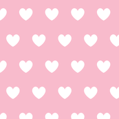 Hearts white on pink