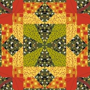 Maple Leaf Cheater Quilt