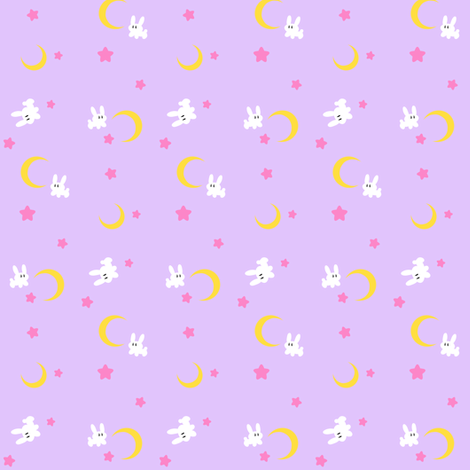 Sailor moon bed spread small version lovelylatte for Moon print fabric
