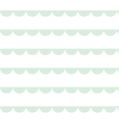 Scalloped bunting mint on white