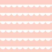 Scalloped bunting white on peach