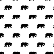 Bears black on white