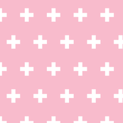 Crosses white on pink