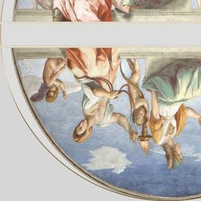 double lunette raphael virtudes teologales_y_la_Ley vatican
