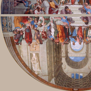 raphael school of athens vatican double lunette
