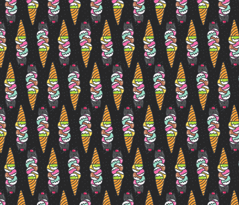 cat ice cream fabric by kostolom3000 on Spoonflower - custom fabric