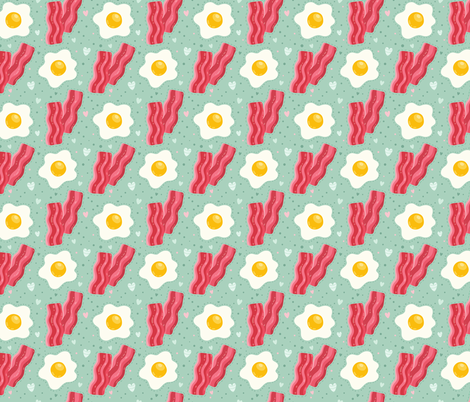 EGG bacon breakfast fabric by kostolom3000 on Spoonflower - custom fabric