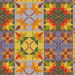 Maple Leaf Cheater Quilt 3