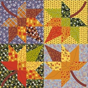 Maple Leaf Cheater Quilt 4