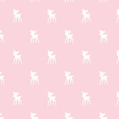 Fawn mini white on pink