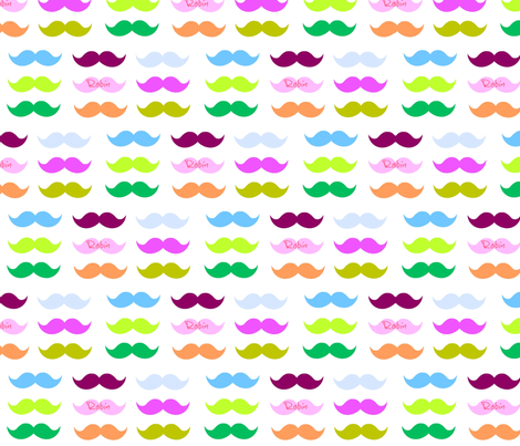 Mustache Candy-personalized pink fabric by drapestudio on Spoonflower - custom fabric