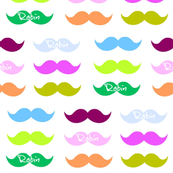 Mustache Candy-Personalized white
