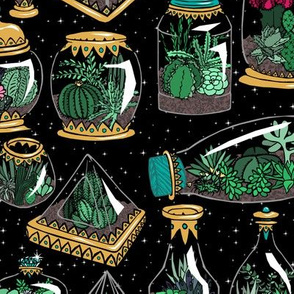 Guilded Terrariums + Stars