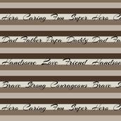 Shades of Brown Striped Pattern Design for Dads