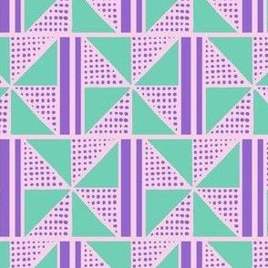 Easter Pinwheel Grid Squares