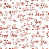 Whimsical Pink Polka Dots and Love Pattern