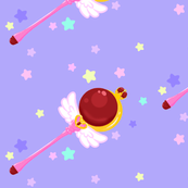 Sailor Moon Scepter Purple