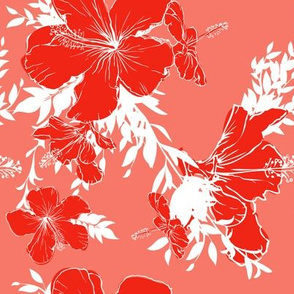 Hibiscus flowers pattern 04